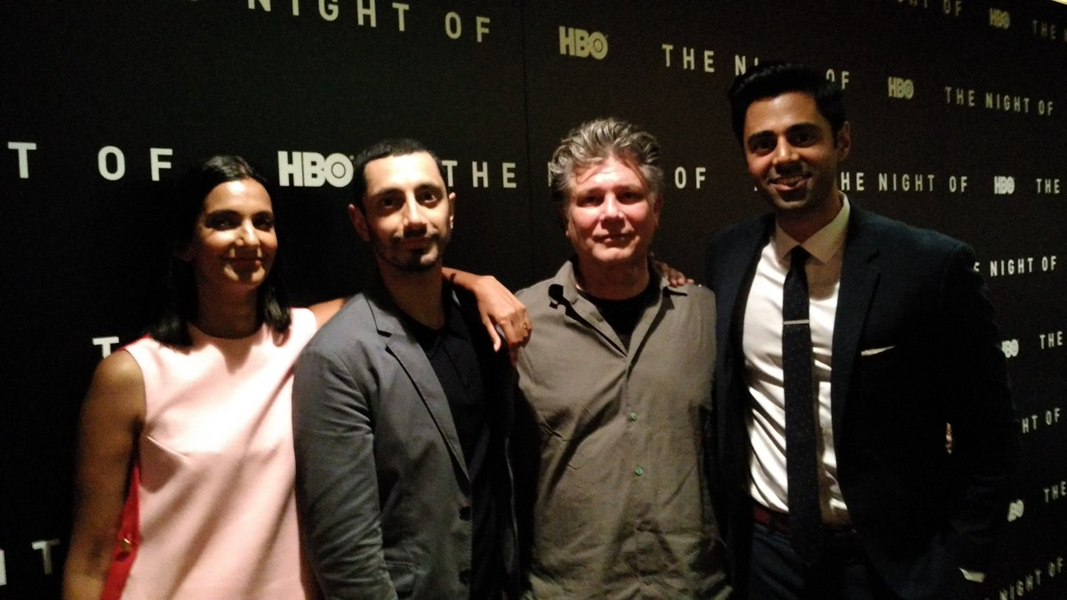 Last night, at #TheNightOf ep4 preview screening in LA.  @rizmc #stevenzaillian @BKBMG @hasanminhaj<br>http://pic.twitter.com/jCSZVHWTqE