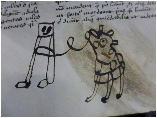 Young hands, old books: Drawings by #children in a fourteenth-century manuscript https://t.co/6Qr5YRBqbg https://t.co/YHO0734BcX