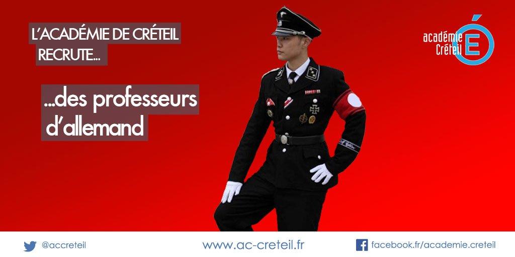 L'académie de Créteil n'a pas peur des clichés pour sa campagne de recrutement CouAyK5UkAEmsf-