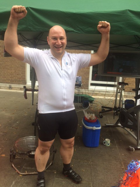 Congratulations to @ProsserSnelling who cycled 100mi on a static bike for #EachBabyCounts @RideLondon https://t.co/YcO5lUMhPN