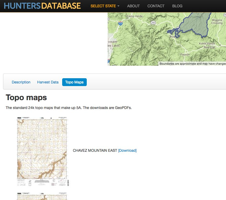 Map Of Unit 5a Arizona.The Hunters Database Huntersdb Twitter
