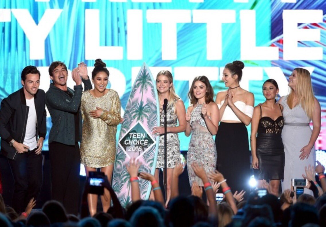 Thanks for your votes and support! And congrats to all who work so hard to make this show special.  #PLLFamily