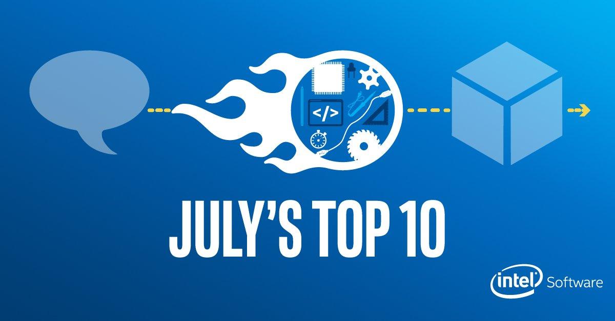 Top Ten Intel® Software Developer Stories for July
