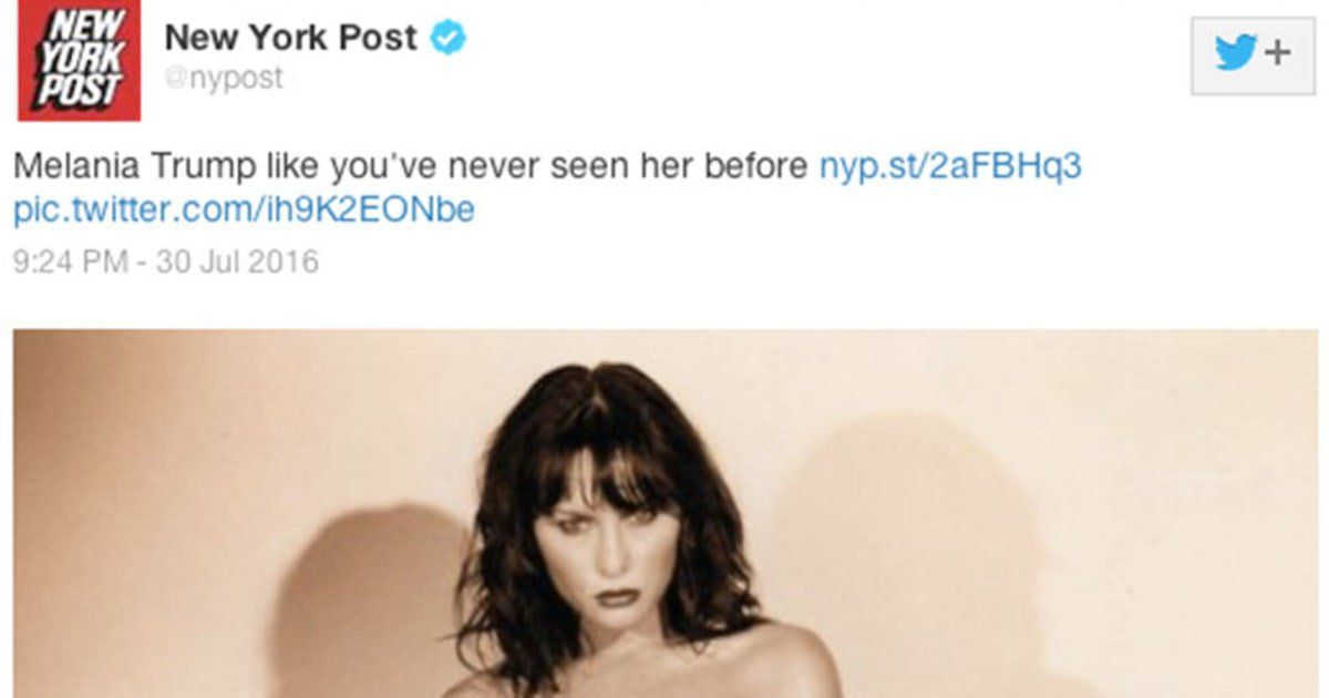 Melania Trumps nude modelling pictures surface