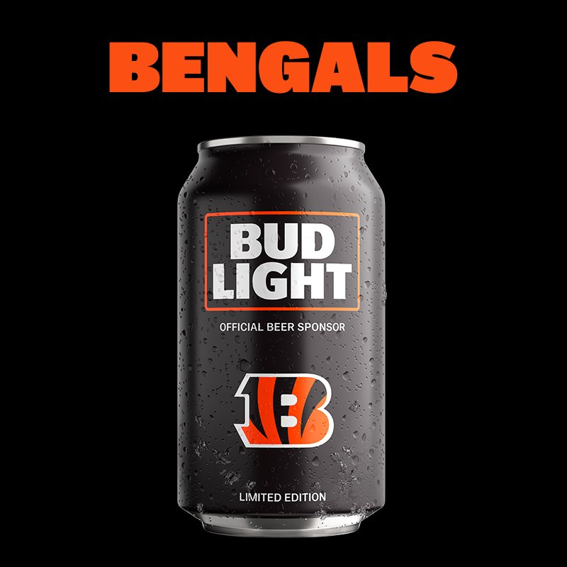 Bud Light On Twitter At Bengals Whodey With The Striped Cans You