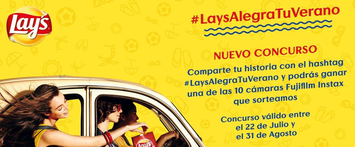 ¡Participa en el concurso #LaysAlegraTuVerano compartiendo tu historia! Bases legales aquí: https://t.co/JZq2YGdCaM https://t.co/LS2CyRKY3Z