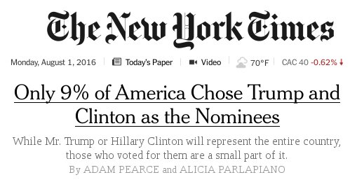 Today's paper, an unintentional reminder to look at third party candidates like @GovGaryJohnson or @DrJillStein.