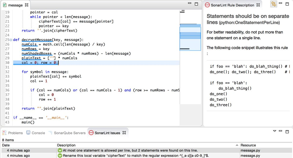 Sonarlint On Twitter Sonarlint For Eclipse 22 Supports Python