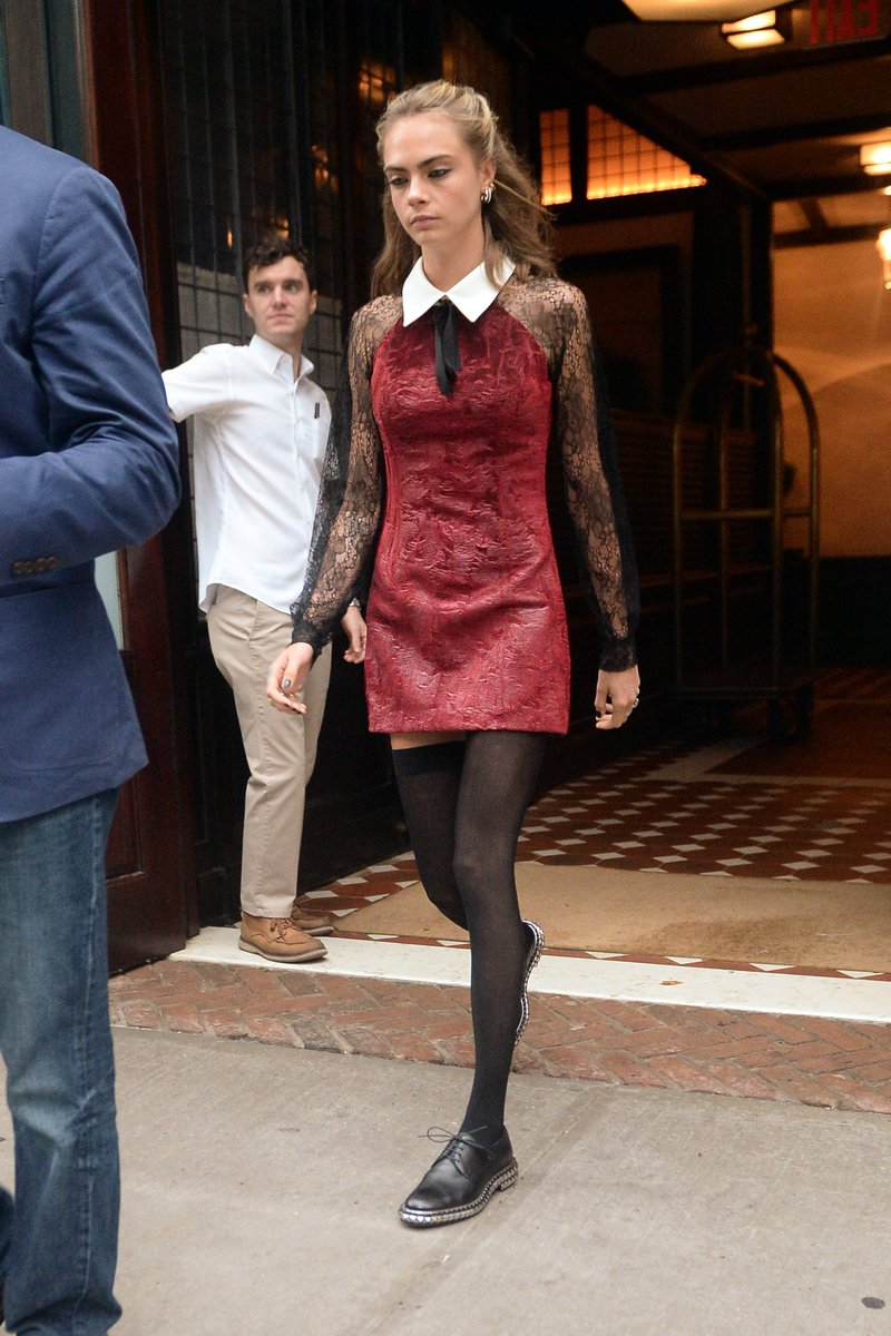 Cara delevingne leaves her hotel in nyc - 2019 year