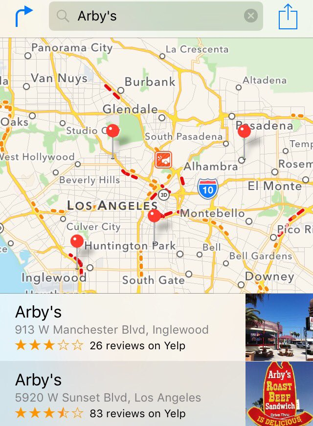 .@RealJoshReddick I'm going to miss you. I hope you have fun in LA. Here's a map of all the Arby's  in Southern CA. https://t.co/Qq88SatgL3
