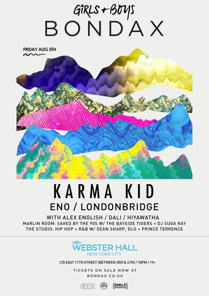 Friday @bondaxuk live @KarmaKid2 @LBHouseMusic & #Eno at @WebsterHall tix https://t.co/FCWvRqorFD flyer https://t.co/LmDgPXuaSG