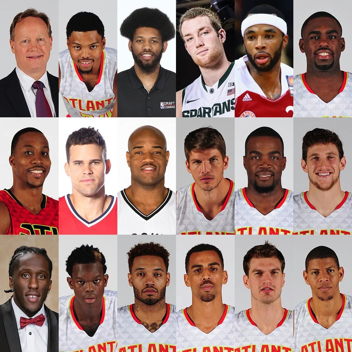 Chuck Dougherty On Twitter The Atlanta Hawks Roster Kyle Korver Looks Like He Is Staring Into Your Soul Cosmis