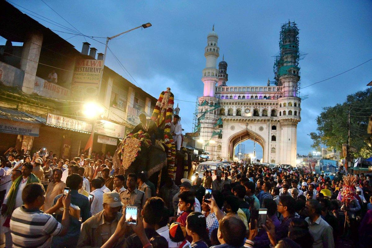 People Bonalu festival procession city Hyderabad | All India