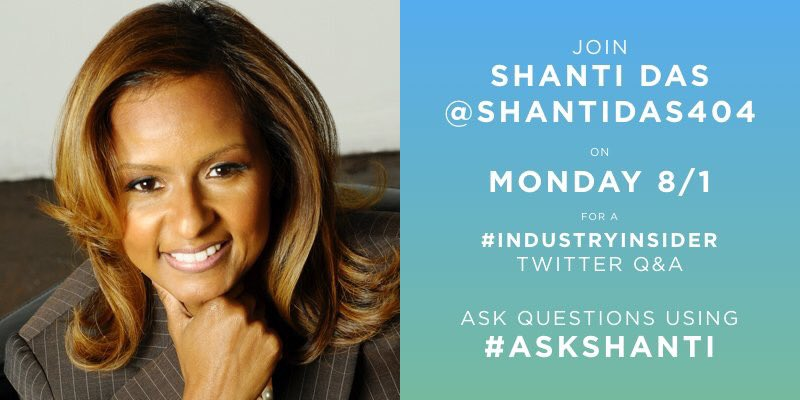 """What's good HipHopPros! gonna share some of my #industryinsider tips today at 4. Use #AskShanti for all of your Qs https://t.co/MtfW6T9B9E"