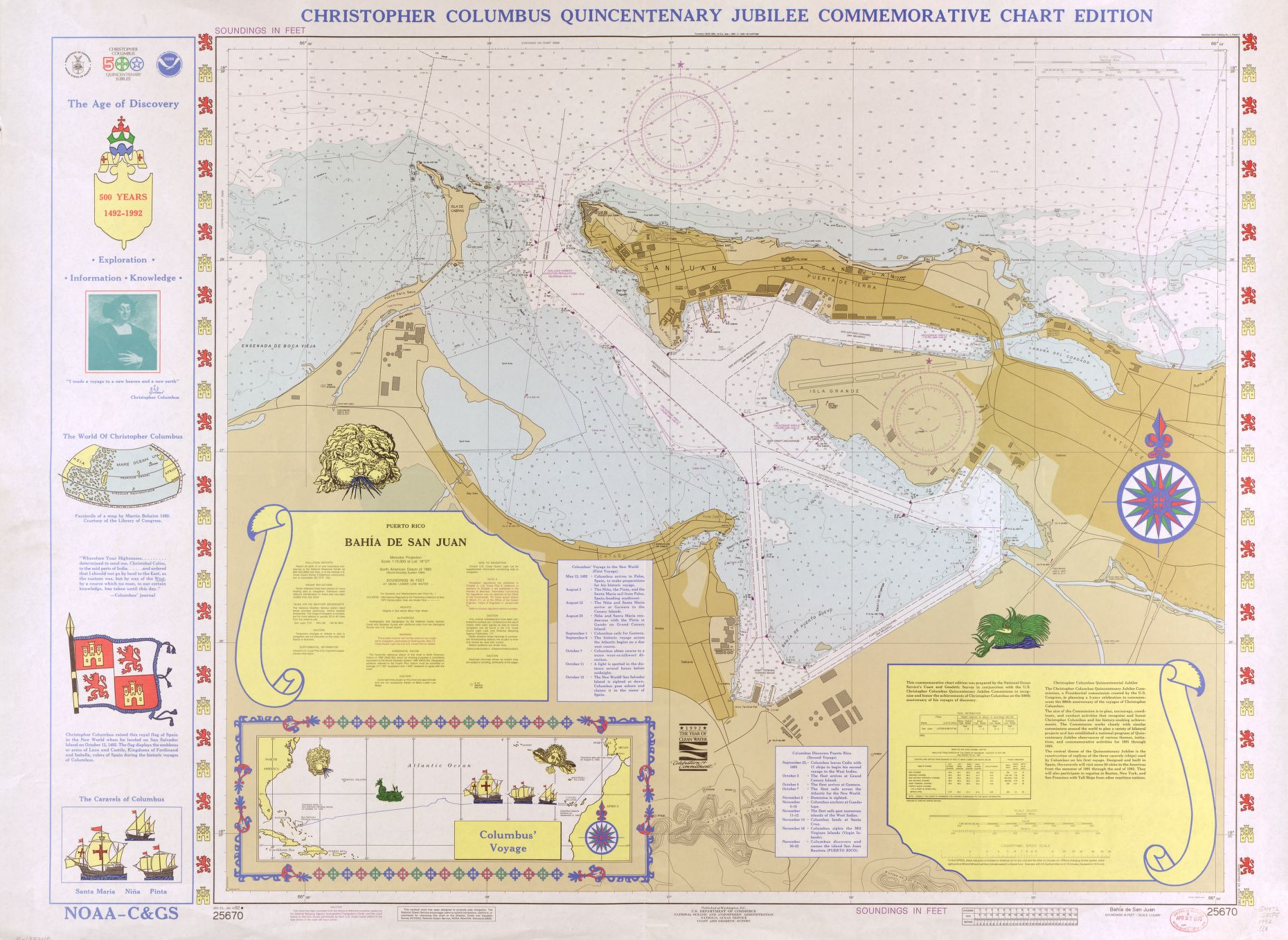 "locmaps on "" map of christopher columbus voyage which"
