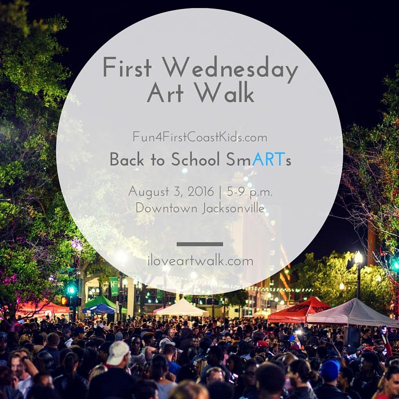 Bring the kids to #DTJax this Wednesday for our Back To School #ArtWalkJax, 5-9 p.m. rain or shine! https://t.co/lZWNdgUXLL