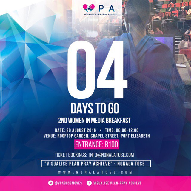 Retweet this post and #win 2tickets to the event this Saturday if you are female and in PE #4days @VPABossMoves #WIN https://t.co/ptah3kD7fv