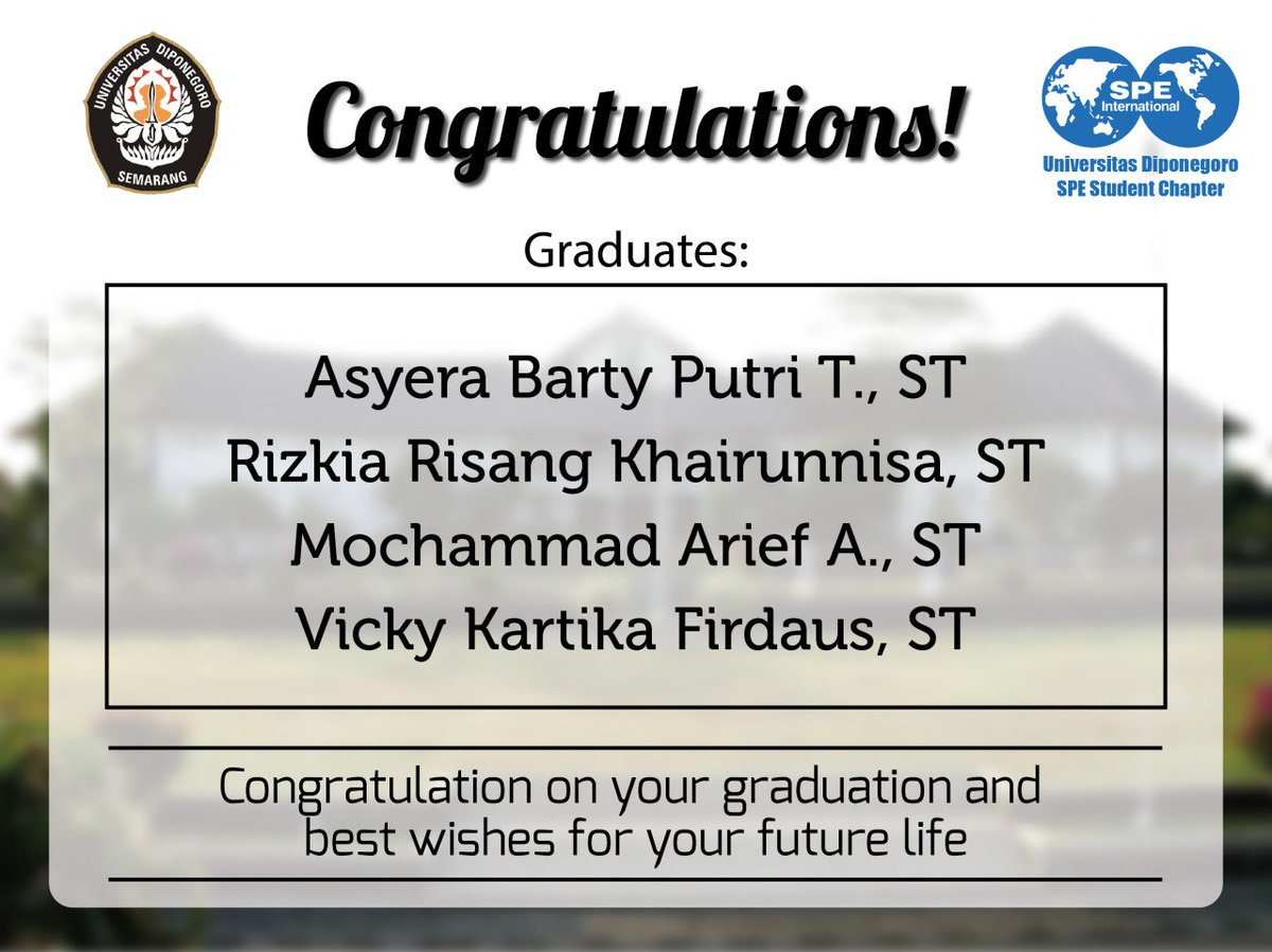 spe undip sc on twitter congratulation on your graduation and best