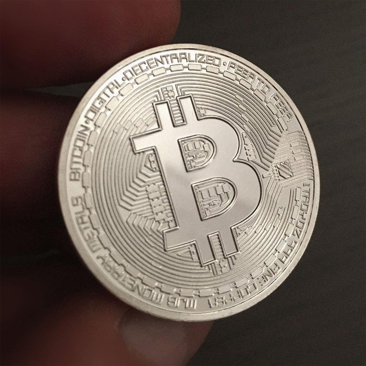 Vous voulez gagner ce beau BitCoin tout argenté? RT+Follow et je tire au sort demain. https://t.co/hFysfbjDJi