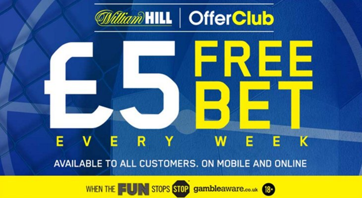 William Hill Offer Club Free Bet
