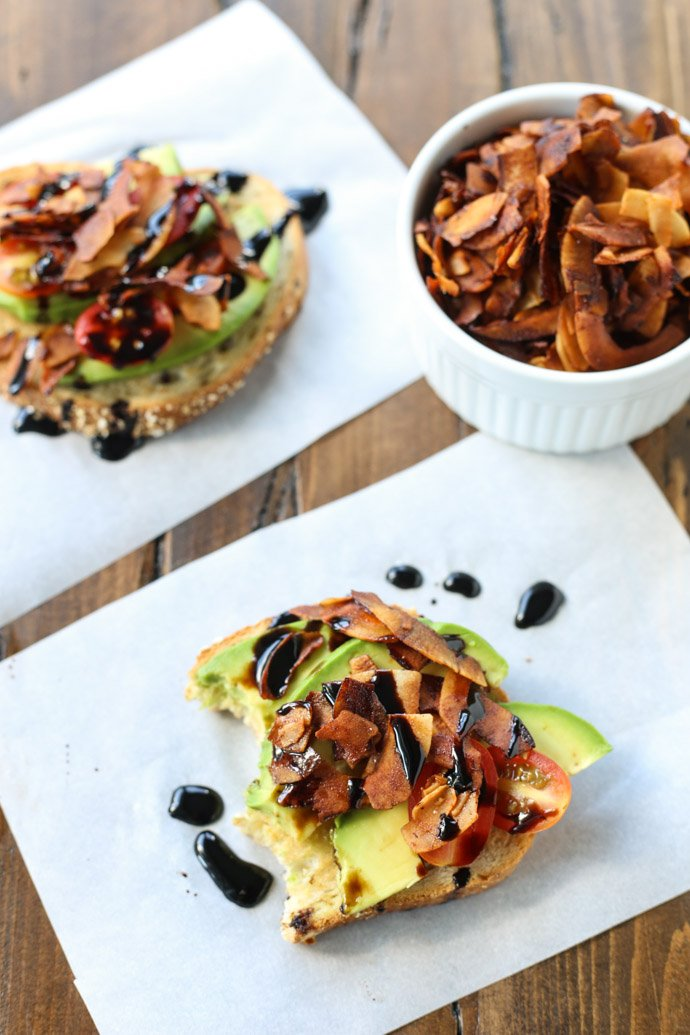 Make this for breakfast/brunch - avocado toast with coconut bacon! https://t.co/5LmNz5TyY8 #SundaySupper #recipe https://t.co/D236lfJ2mY