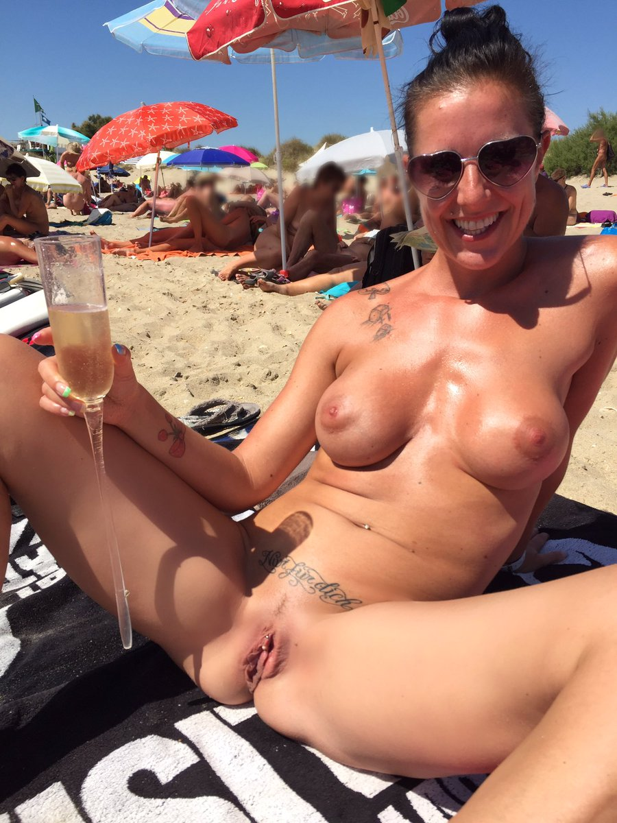 Hot naked beach