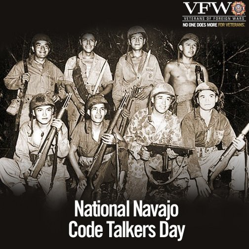 Today, we honor the service of the @NavajoCodes & the role they played in #WWII. Thank you for your service! https://t.co/RxPZovmUAe