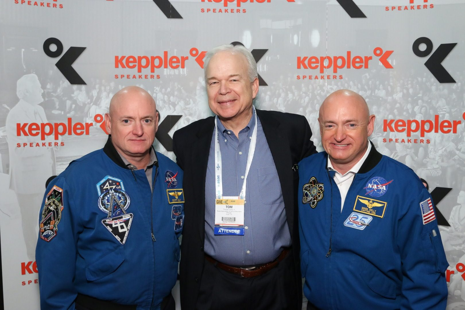 Great presentation at #ASAE16 by Captains Mark and Scott Kelly. Thank you for contributions to space exploration! https://t.co/ukEs2AeTvw