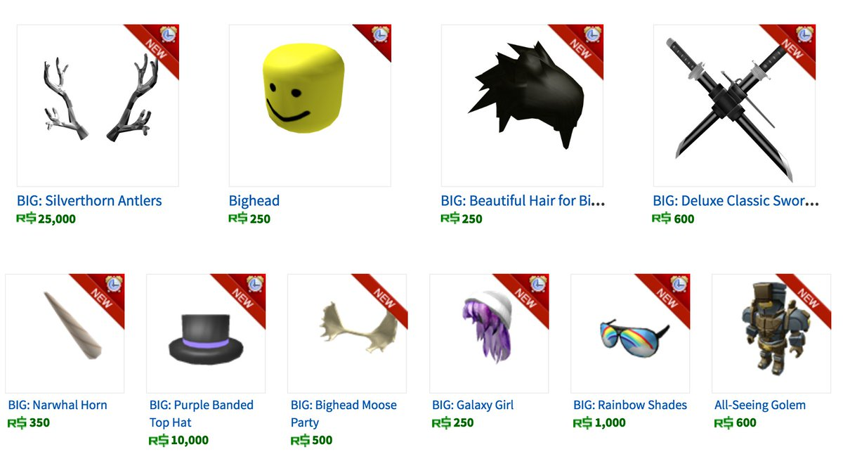 roblox on twitter make your bighead even more stylish with these special items designed to fit httpstcorpc9glug6g