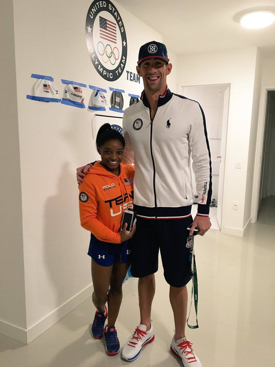 Best picture of the week.   Simone Biles and Michael Phelps: https://t.co/ga1l0gAQi9
