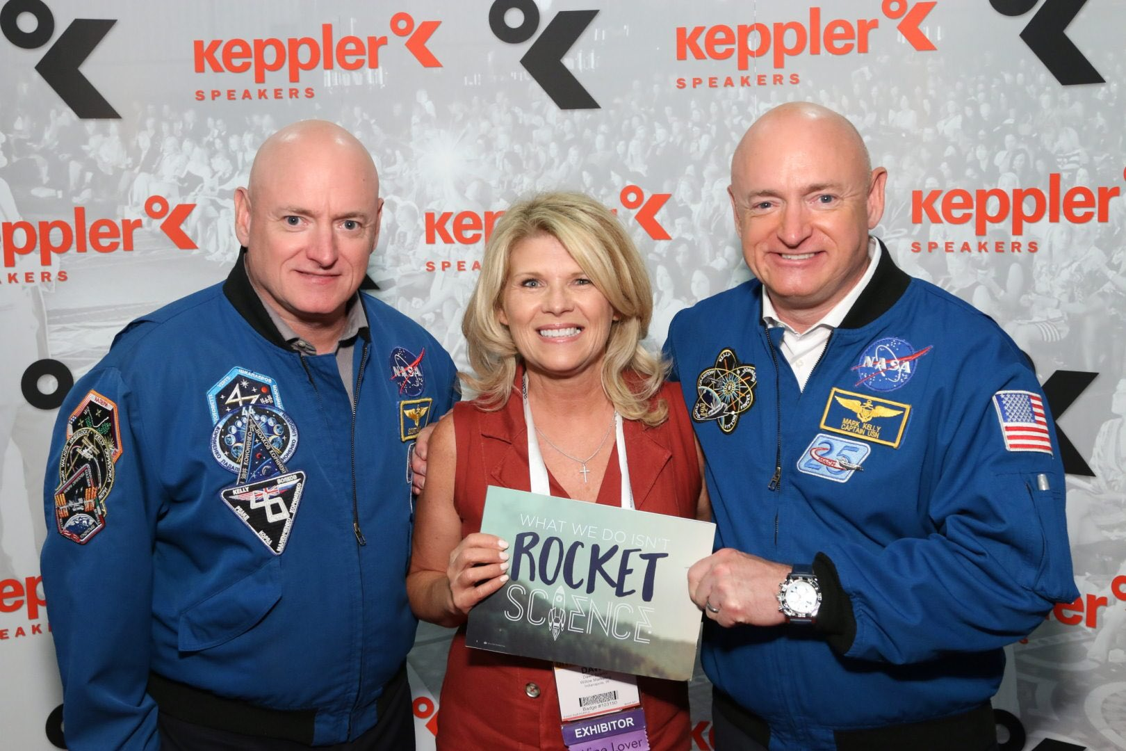 Great to rub elbows with real Rocketmen, Mark and Scott Kelly @ASAE16. #Welike2RocketatASAE https://t.co/bMvYahZozi