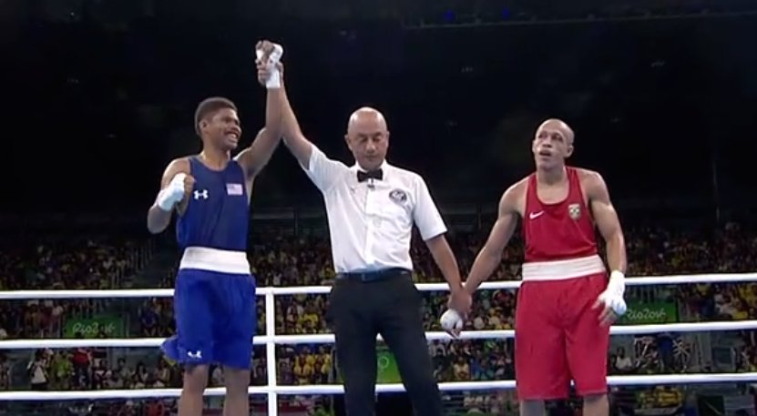 .@ShakurStevenson grabs a UNANIMOUS WIN in his #Olympics debut!