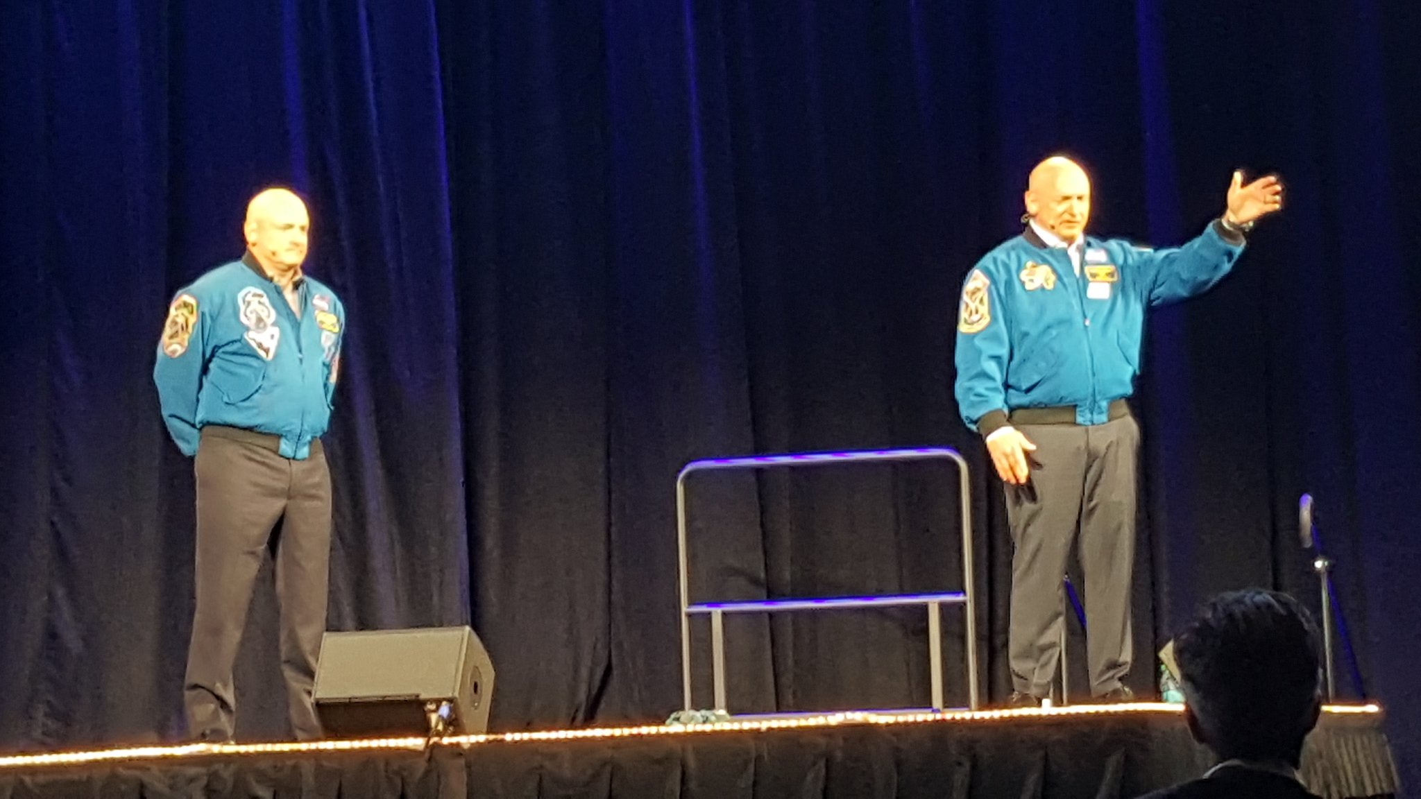 Getting motivated by Capts Mark & Scott Kelly  #ASAE2016 #TNTDINSLC #DELTA_DMN https://t.co/1cEP9FWBAh