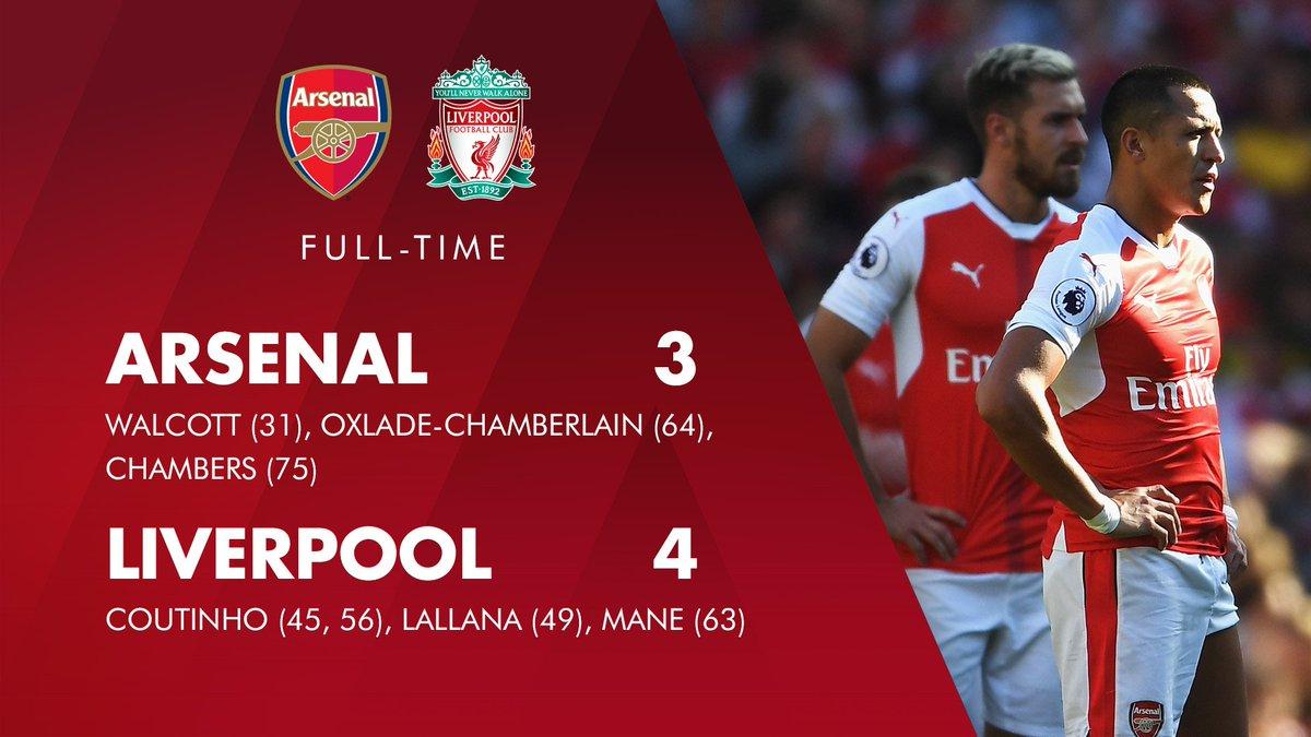 642544399 Arsenal vs Liverpool FA Premier League 2016 2017