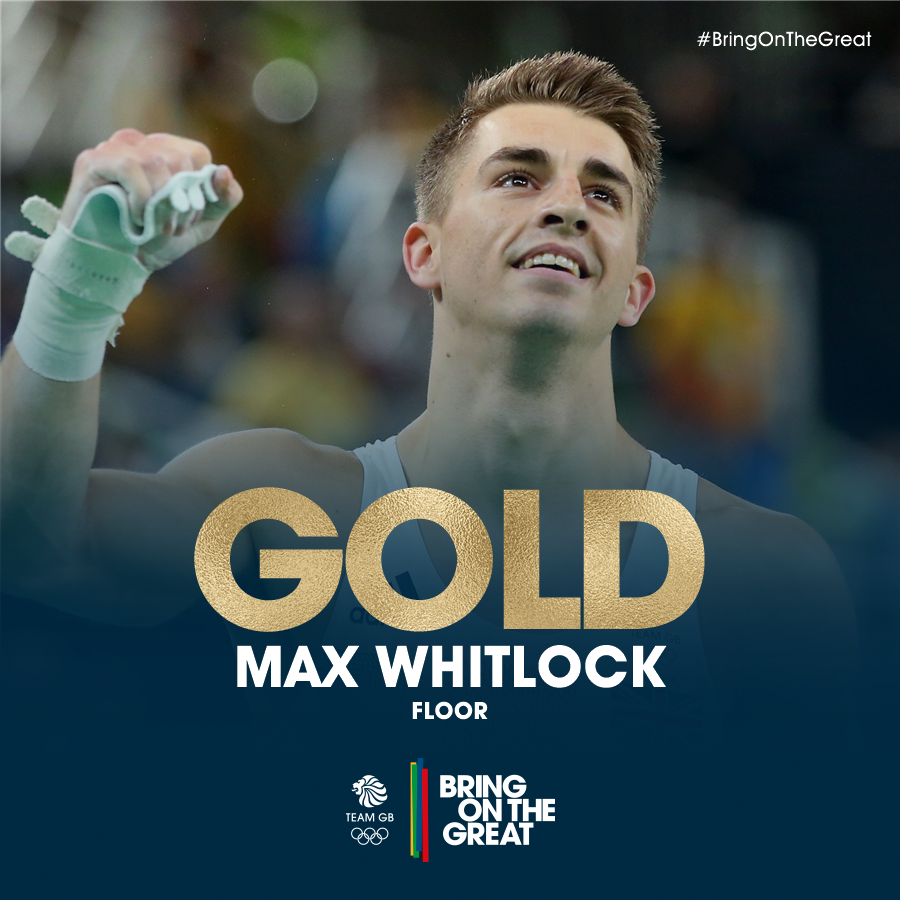 HE'S DONE IT!!! @maxwhitlock1, say hello to your second medal - this time it's a #GOLD! #BringOnTheGreat #Rio2016