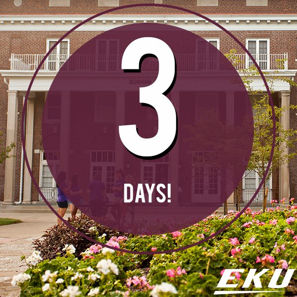 #EKU20 move in begins in just 3 days! https://t.co/WDiAqsVYZt