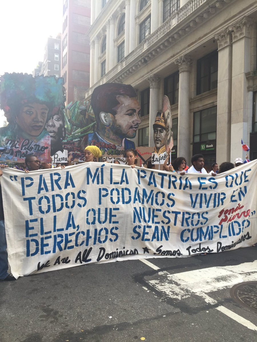 #DominicanDayParade #SolidarityatDRParade recognizing citizenship rights for Dominicans of Haitian descent https://t.co/yjvtY5FoNV