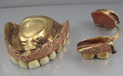 George Washington George Washington Wooden Teeth Gold Ivory Lead