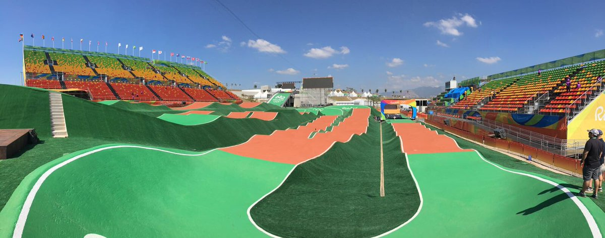 .@Olympics #BMX Track is looking lush! #BMX #Rio2016 https://t.co/ttT2tNJYDV