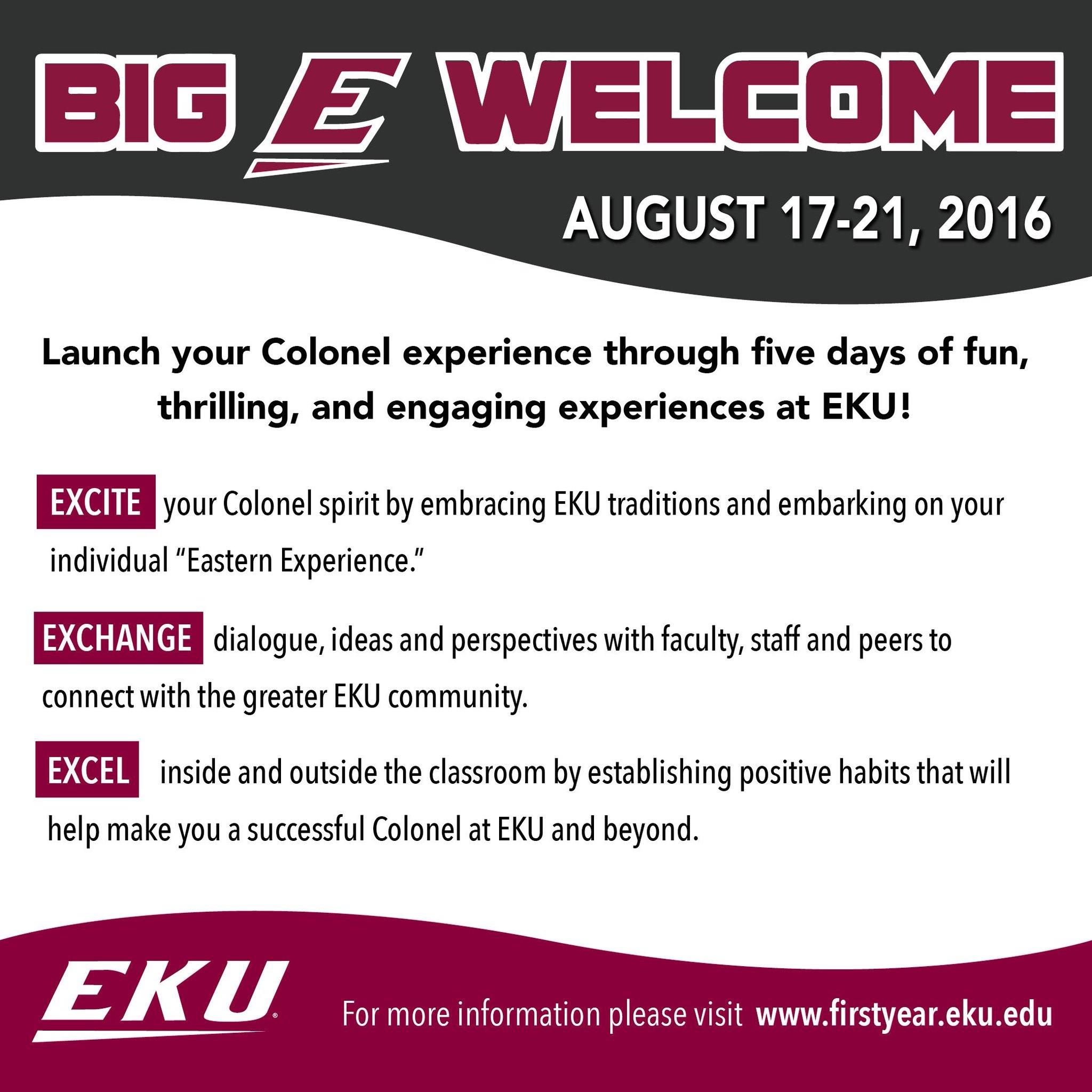 This week it all begins. #BigEWelcome #EKU https://t.co/dR1V06l4bf