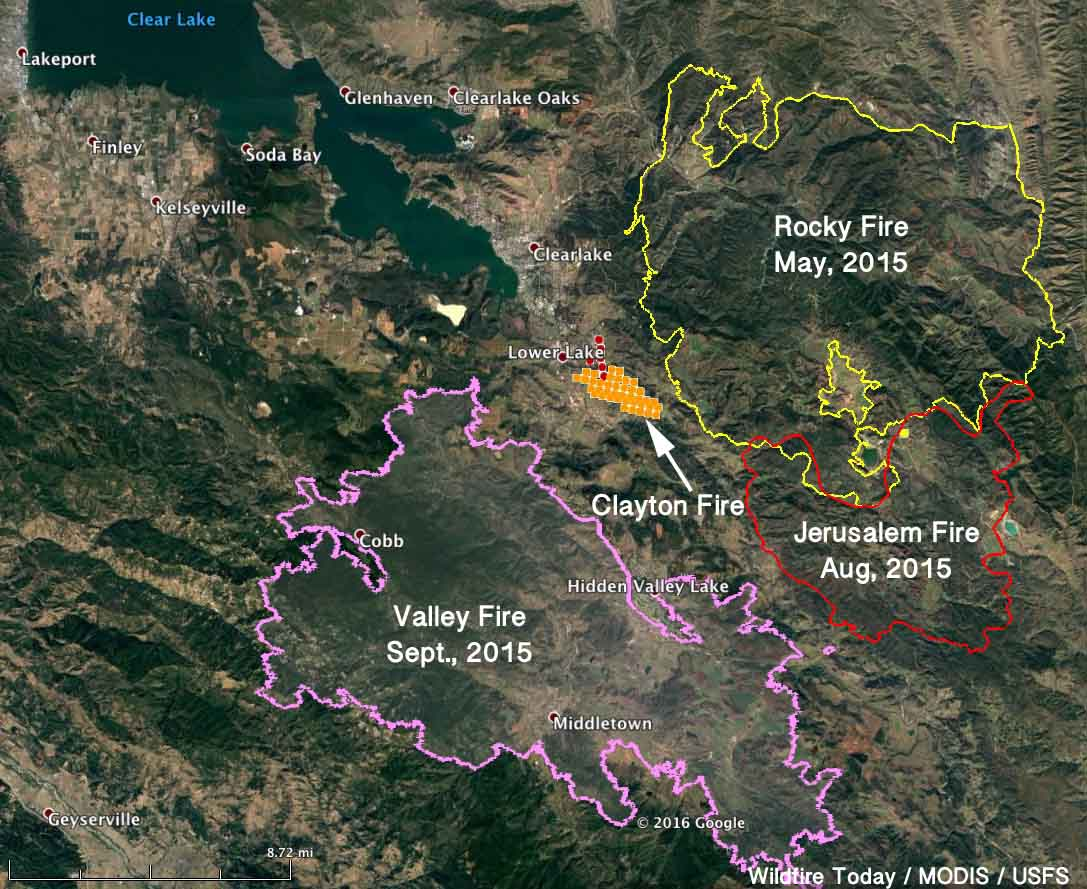 Wildfire Today On Twitter Revised Map Of Claytonfire It S