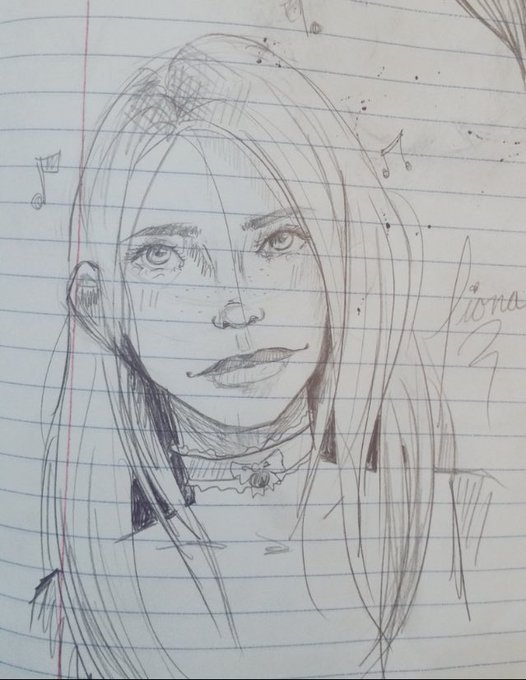 I love this doodle @Arabella_Fae did of me :3 it's seriously so cute and I really love the music notes