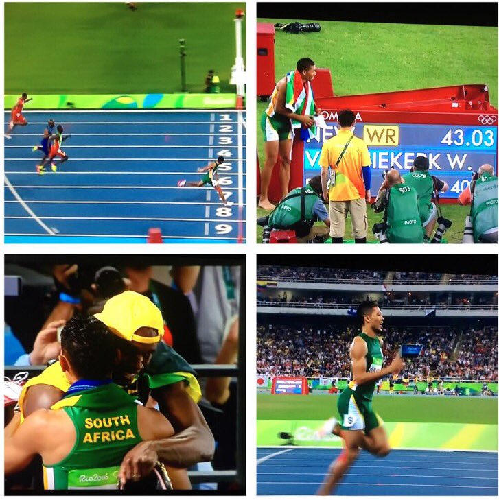 Wow @waydedreamer Wow #SouthAfrica Wow #Africa. What a spectacular race and world record. https://t.co/SLq5HoNOix