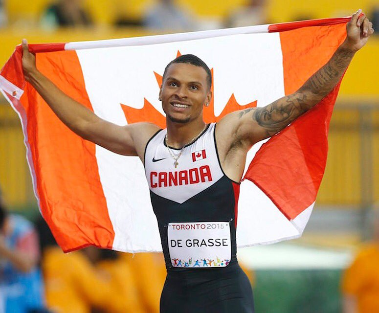 Andre Degrasse wins Bronze and is the first Canadian to win a medal in the men's 100m since Donovan Bailey!