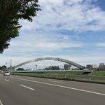 8bitみたいな橋は実在した!工事中の水穂大橋の外観が凄いことになってる!