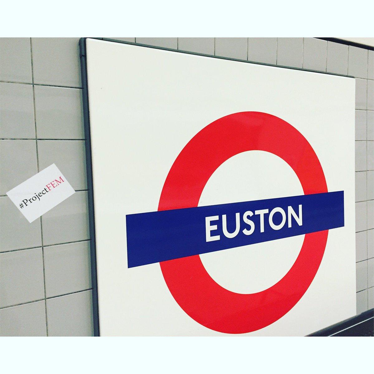 ✊🏼💋 #ProjectFEM #London #Euston #socialaction #socialchange #socialjustice #feminism #fashion #feminist #empowerment