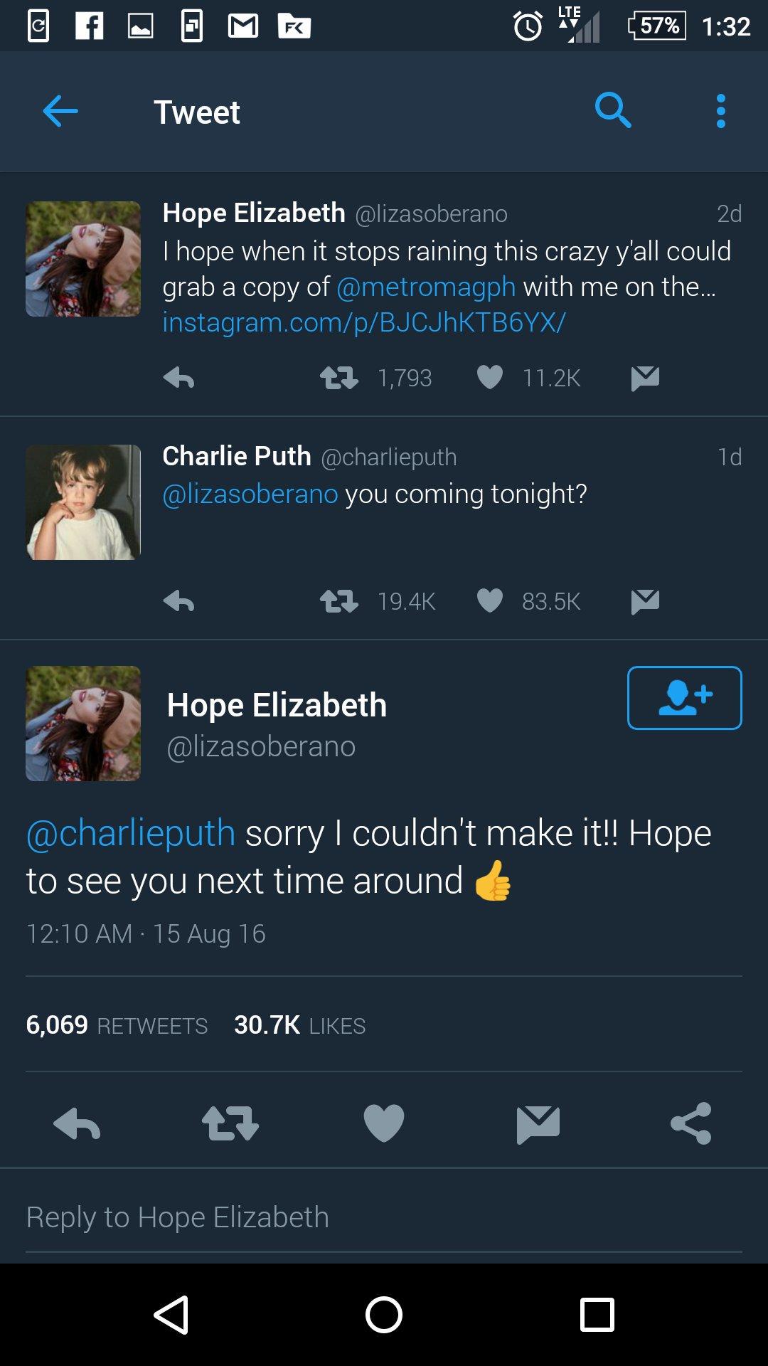 Liza dan Charlie Puth
