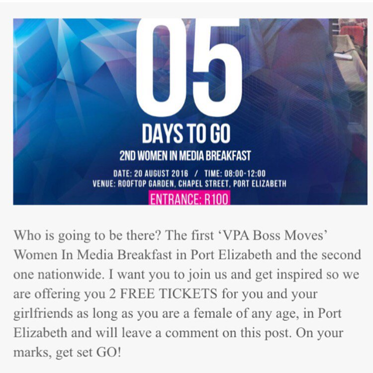 #PE ladies retweet this & win 2 #FREE tickets to 1st #VPABossMoves #WomenInMedia breakfast Retweet @VPABossMoves https://t.co/vUtcIRMDF3