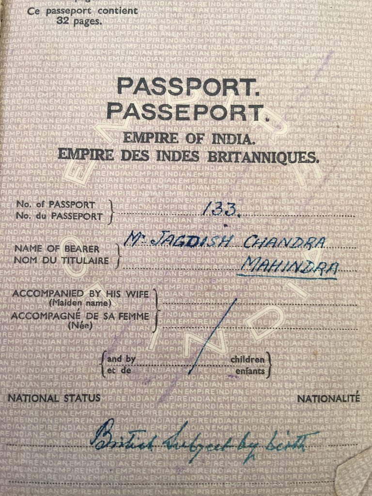 I keep this nearby-to remind me what it means to have a passport saying 'Republic of India, not 'Empire of India' https://t.co/3XoGqVtJqL