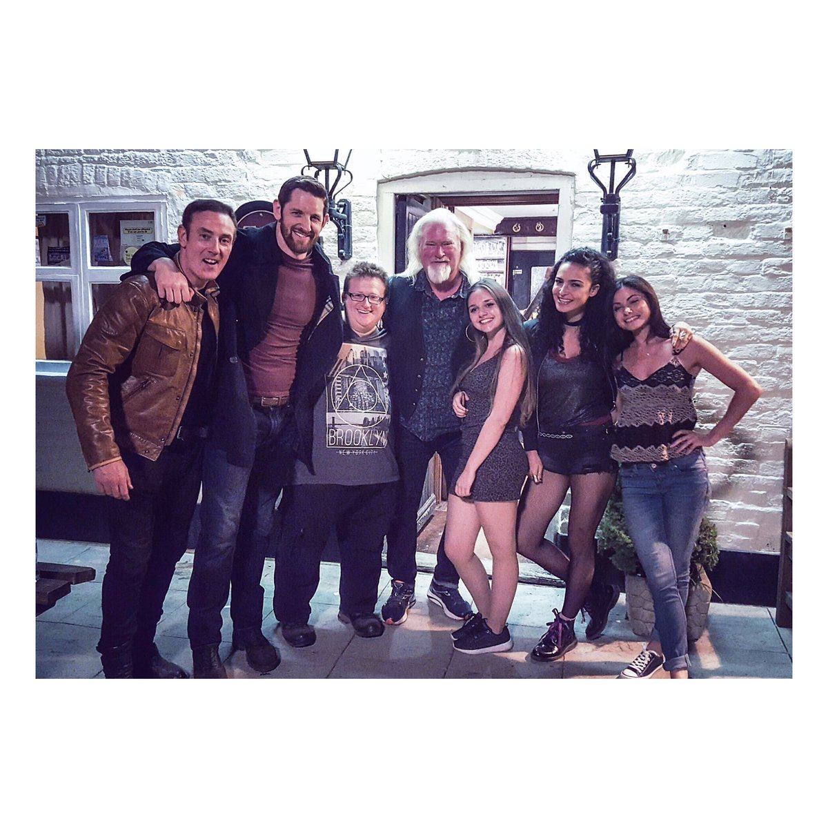 Love this shot of some of the cast of @vengeancefilmuk simply awesome people! (photo stolen from @BryanLarkin